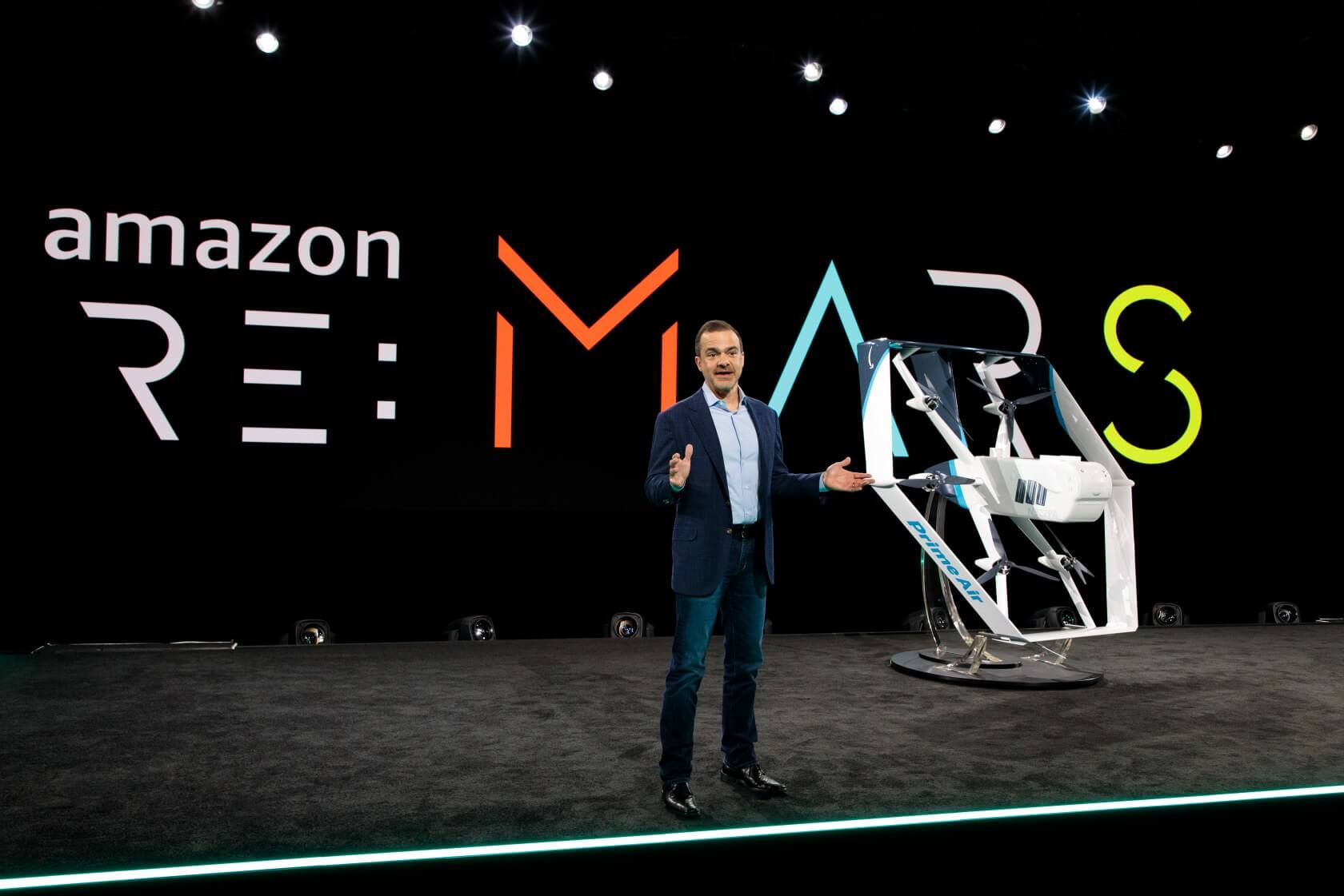 Amazon unveils its redesigned 'hybrid' delivery drone, featuring helicopter and plane flight modes
