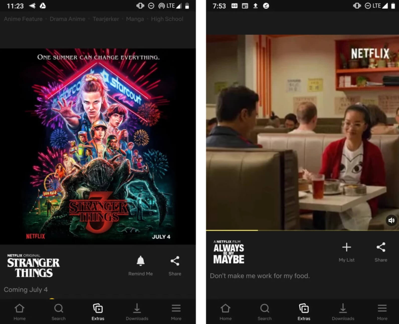 Netflix is testing Extras, an Instagram-style scrolling feed for its mobile app