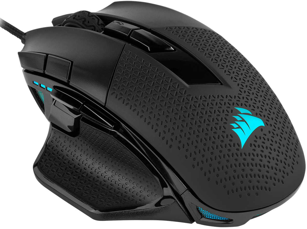 Corsair's Nightsword RGB gaming mouse detects its center of gravity in real time
