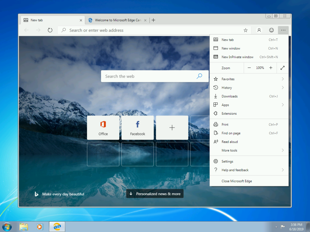 On Day Windows 7 Launched I Installed >> Microsoft S Chromium Powered Edge Browser Comes To Windows 7 And