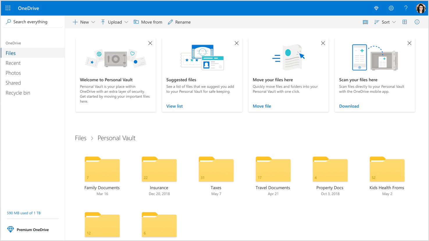 Microsoft OneDrive adds a Personal Vault for better security - TechSpot