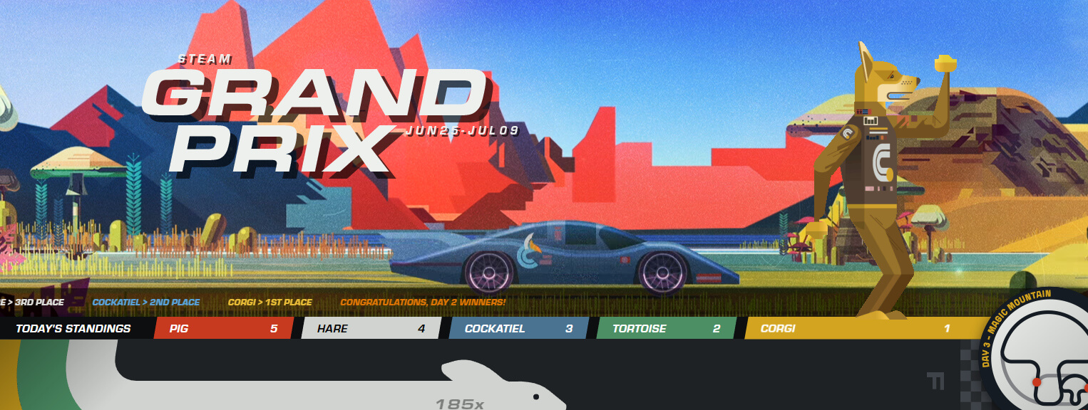 Steam's idea of a Grand Prix game for its Summer Sale isn't firing on all cylinders