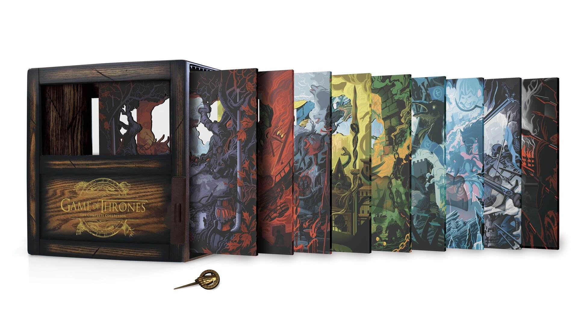 Game of Thrones Blu-ray boxset packs all episodes and bonus content into a very cool box