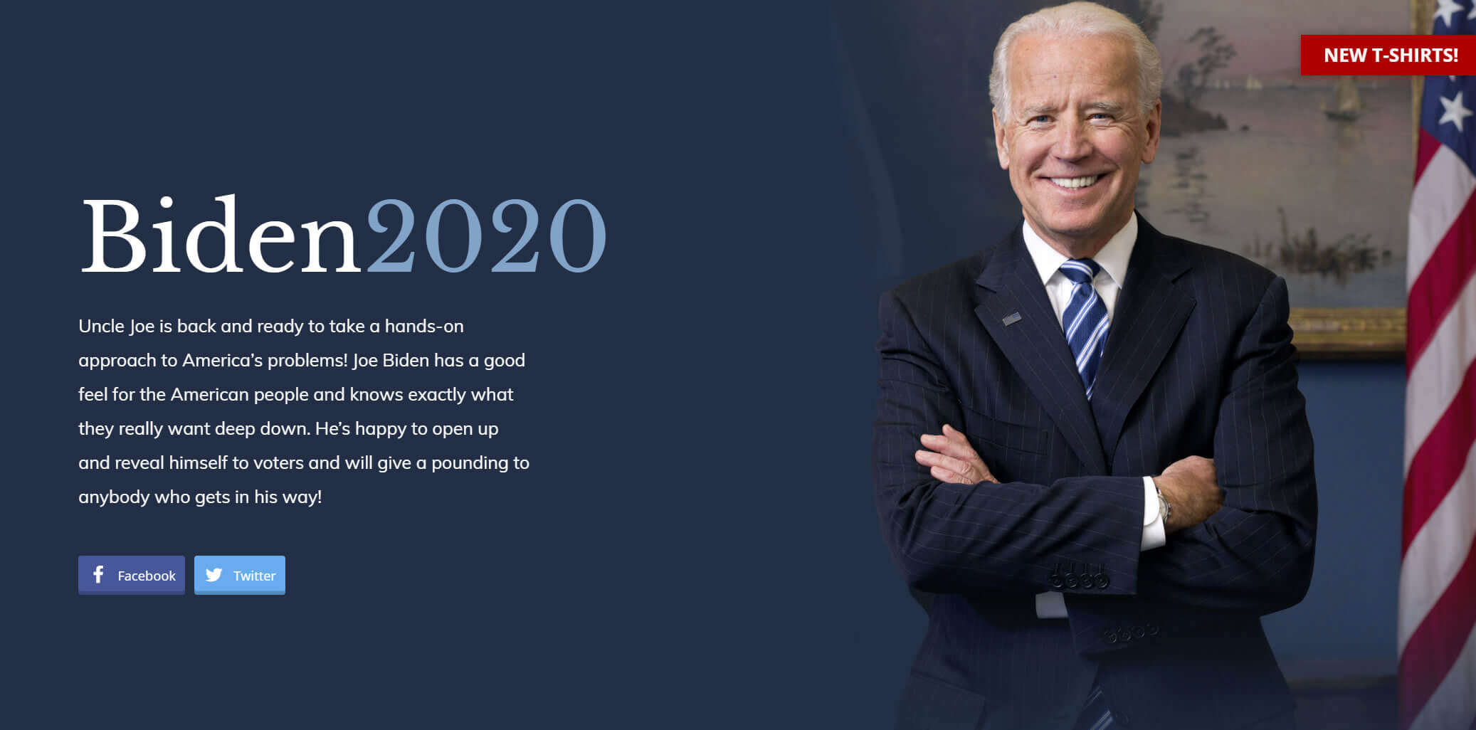 A fake Biden campaign site may be outperforming the real one