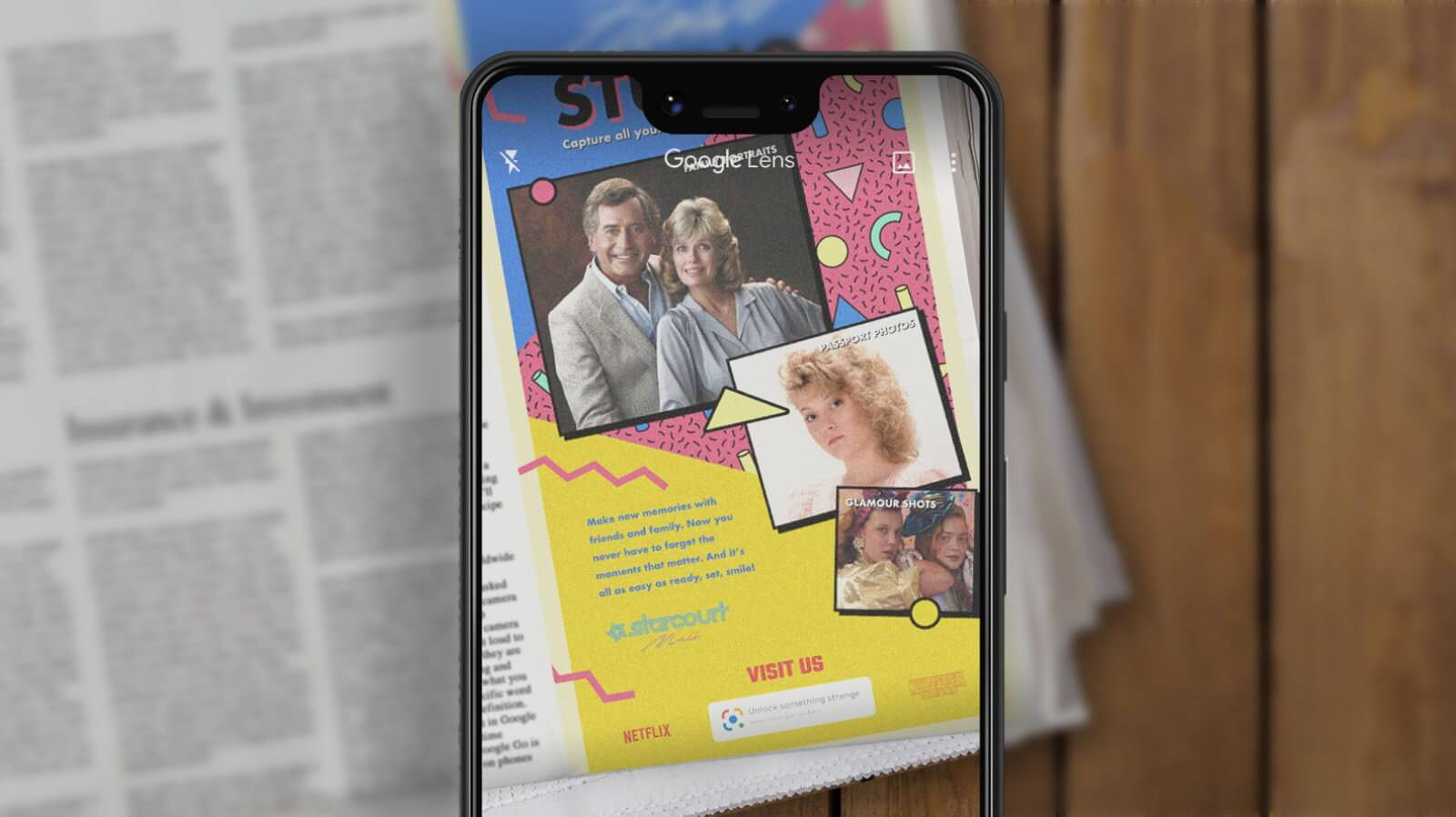 Google Lens AR shows Stranger Things 3 newspaper ads in all their 80s glory