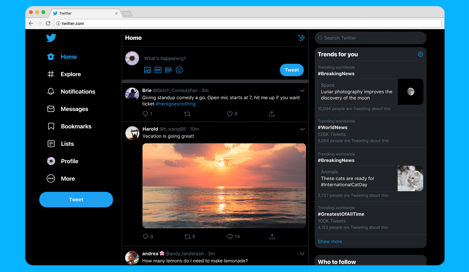 Twitter's web redesign is rolling out with easier navigation and a faster backend