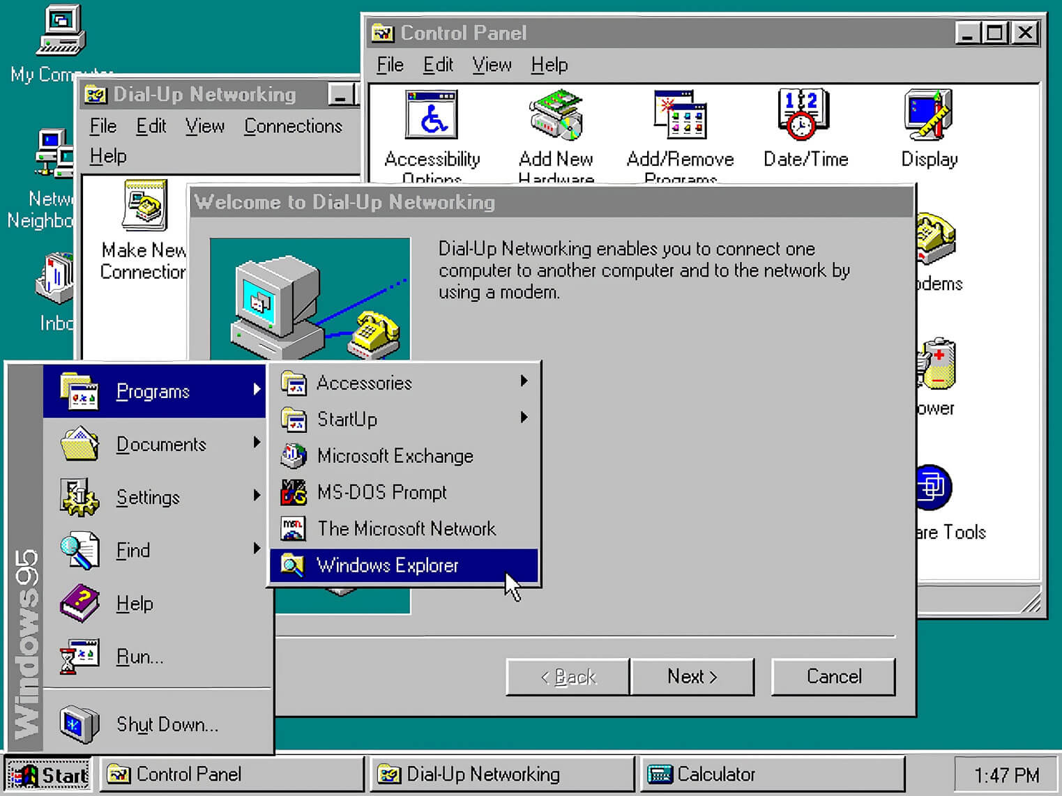 Wiggling the mouse in Windows 95 made the operating system