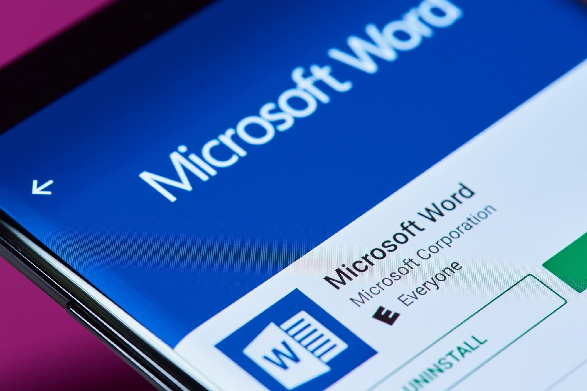 Microsoft Word has now been installed over one billion times