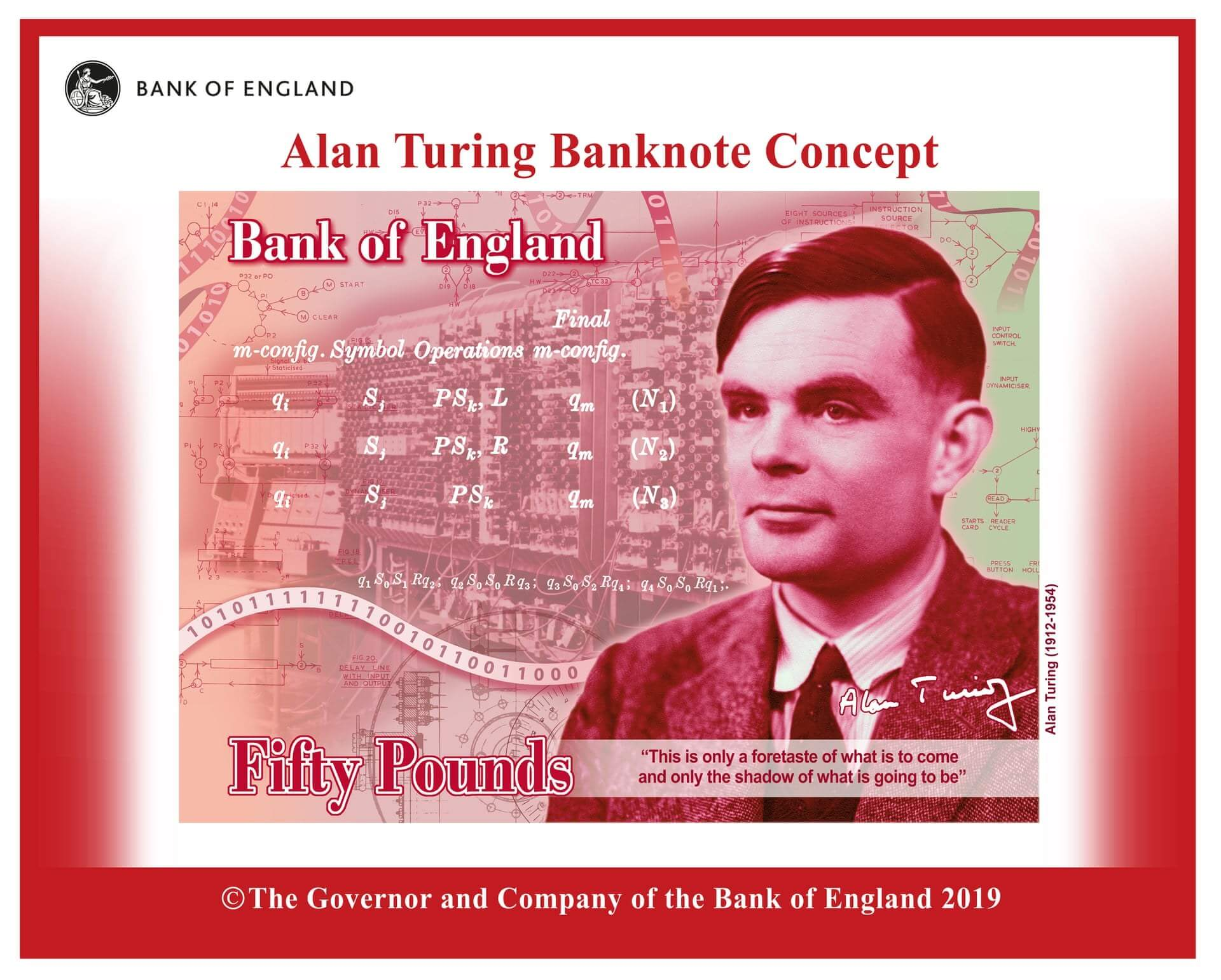 Bank of England Accrediting Cryptocurrency? New £50 Note to Feature Alan Turing