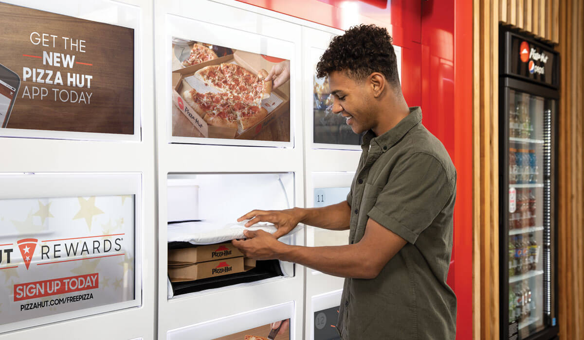 Pizza Hut is testing Amazon Locker-style cubbies for pickup orders