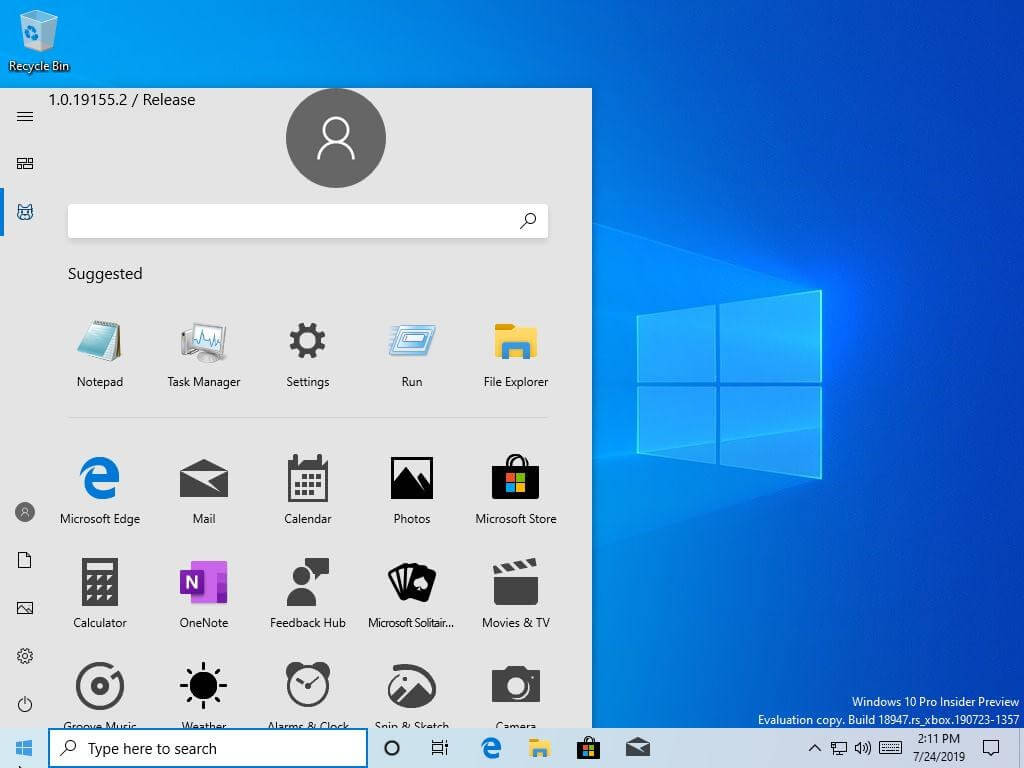 Microsoft accidentally leaks internal build of Windows 10 with redesigned Start menu