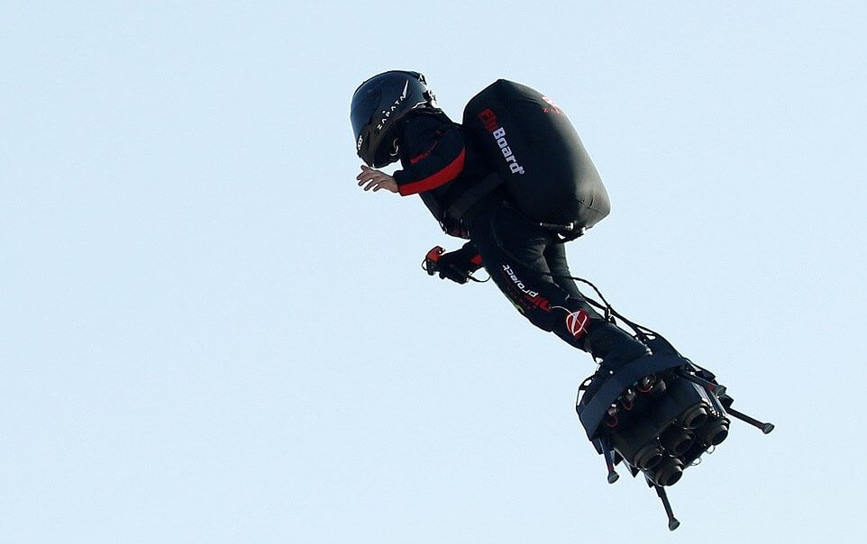 Franky Zapata, inventor of the Flyboard Air hoverboard, crosses English Channel at second attempt