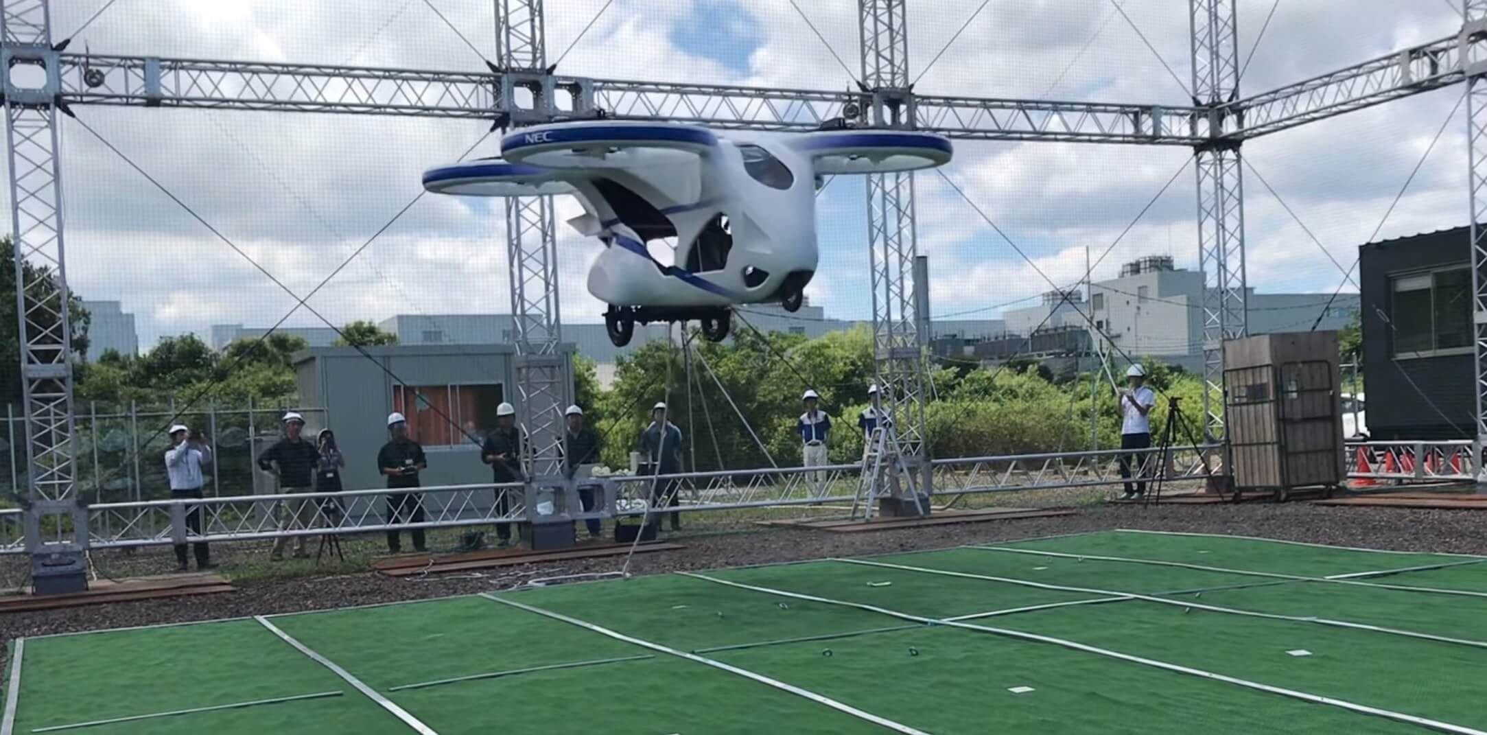 Japanese passenger drone lifts off in short demo