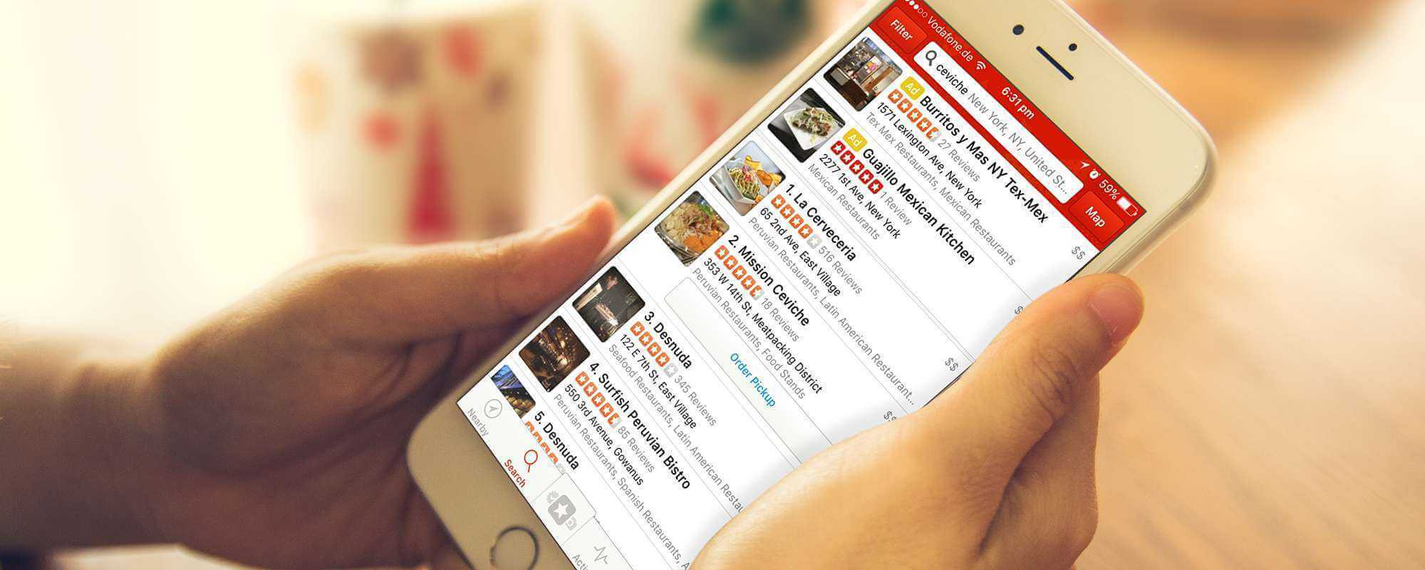Yelp quietly swaps restaurant phone numbers with Grubhub-affiliated numbers