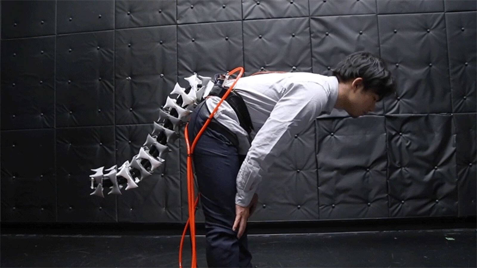 Check out this robotic tail that could improve your agility and balance