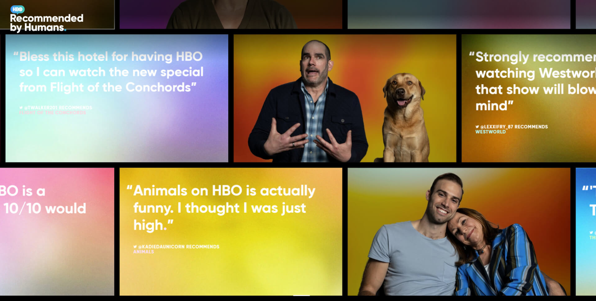 HBO launches a 'Recommended by Humans' website to give a taster of its praised shows