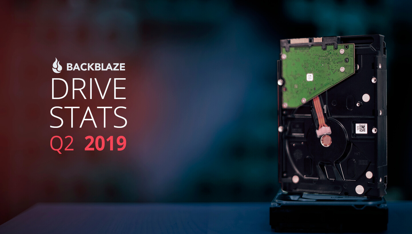 Backblaze publishes HDD reliability stats for Q2 2019