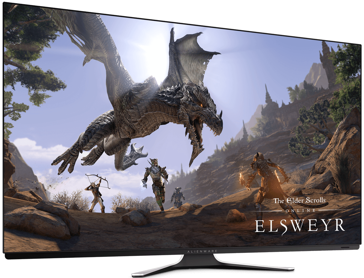 Alienware's 55-inch OLED gaming monitor launches in September priced at $4,000