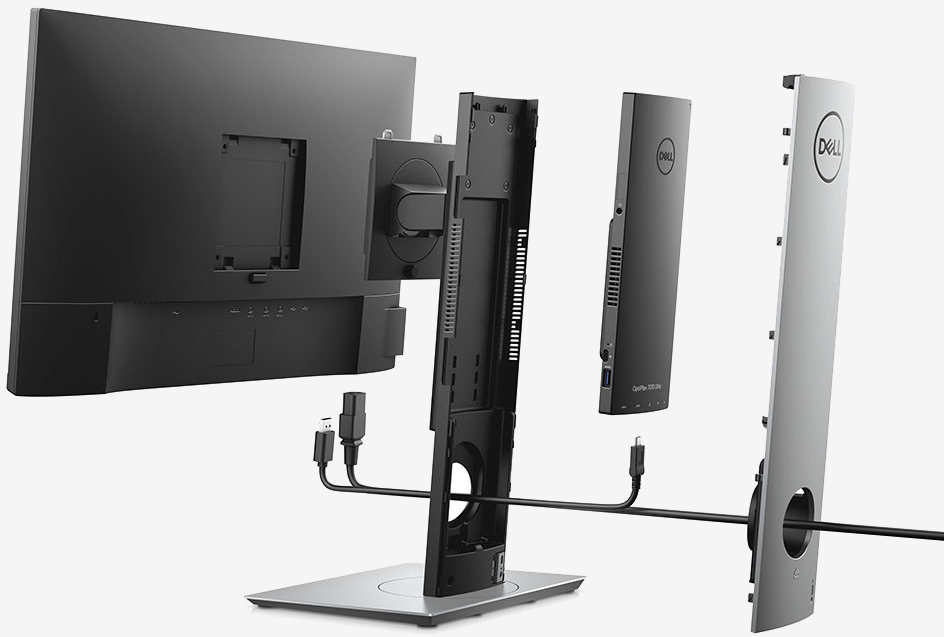 Dell's OptiPlex 7070 Ultra is a modular all-in-one desktop PC inside a monitor stand