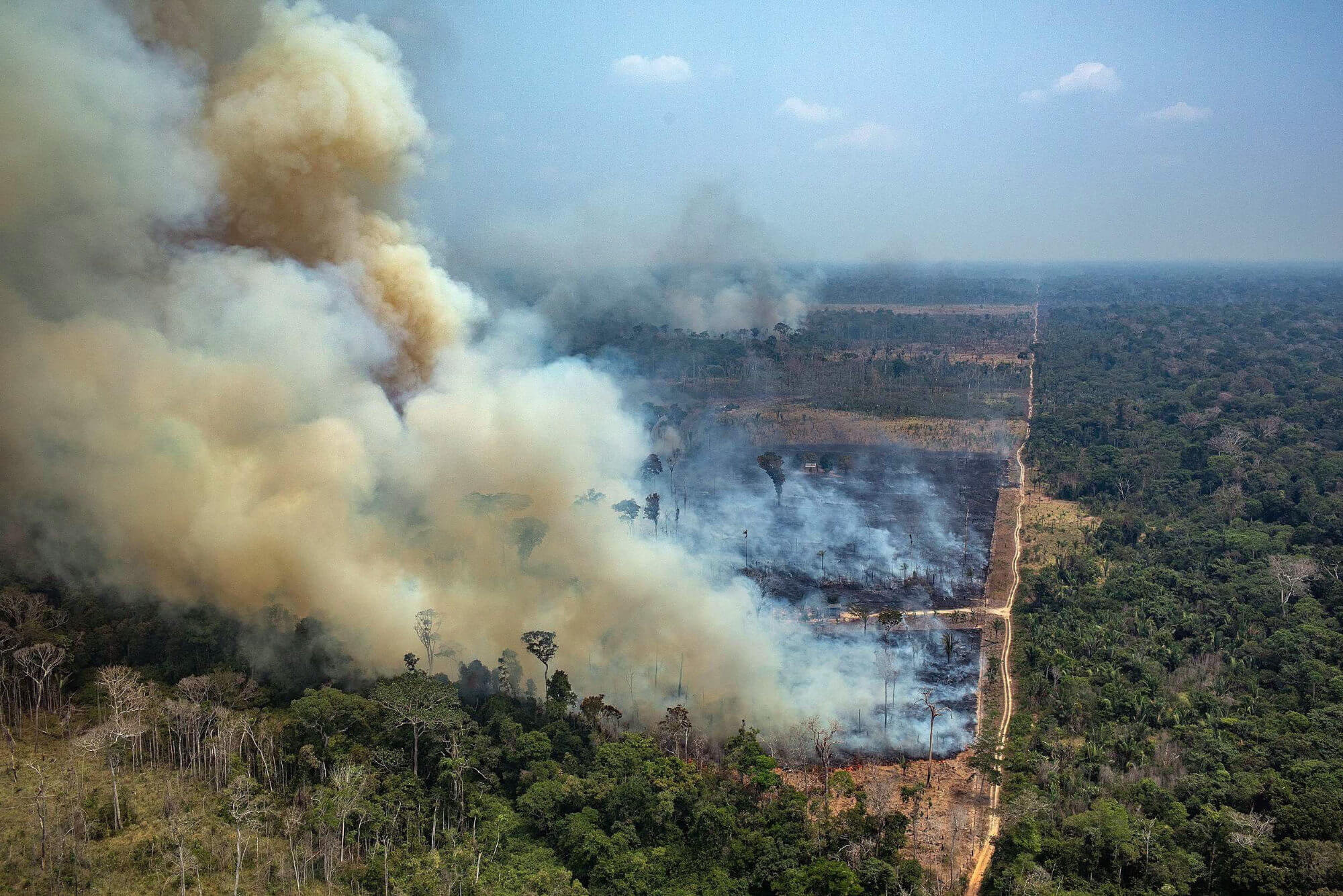 Brazilian warplanes dump thousands of gallons of water on Amazon fires