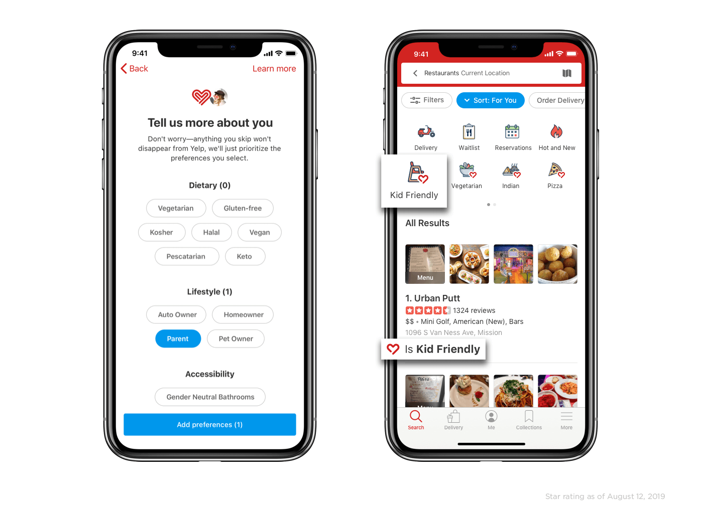 Yelp Updates App to Include Dietary Preferences, Accessibility Search