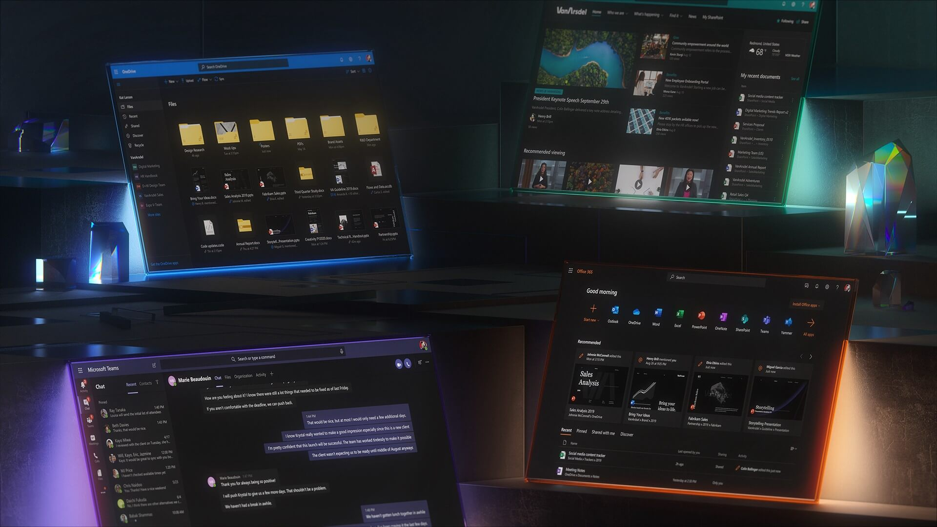 Microsoft starts rolling out Dark Mode, starting with Outlook for Android and iOS and Office.com