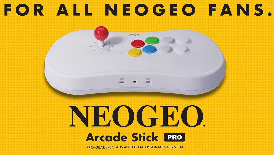 Neo Geo Arcade Stick Pro comes pre-installed with 20 classic fighting games