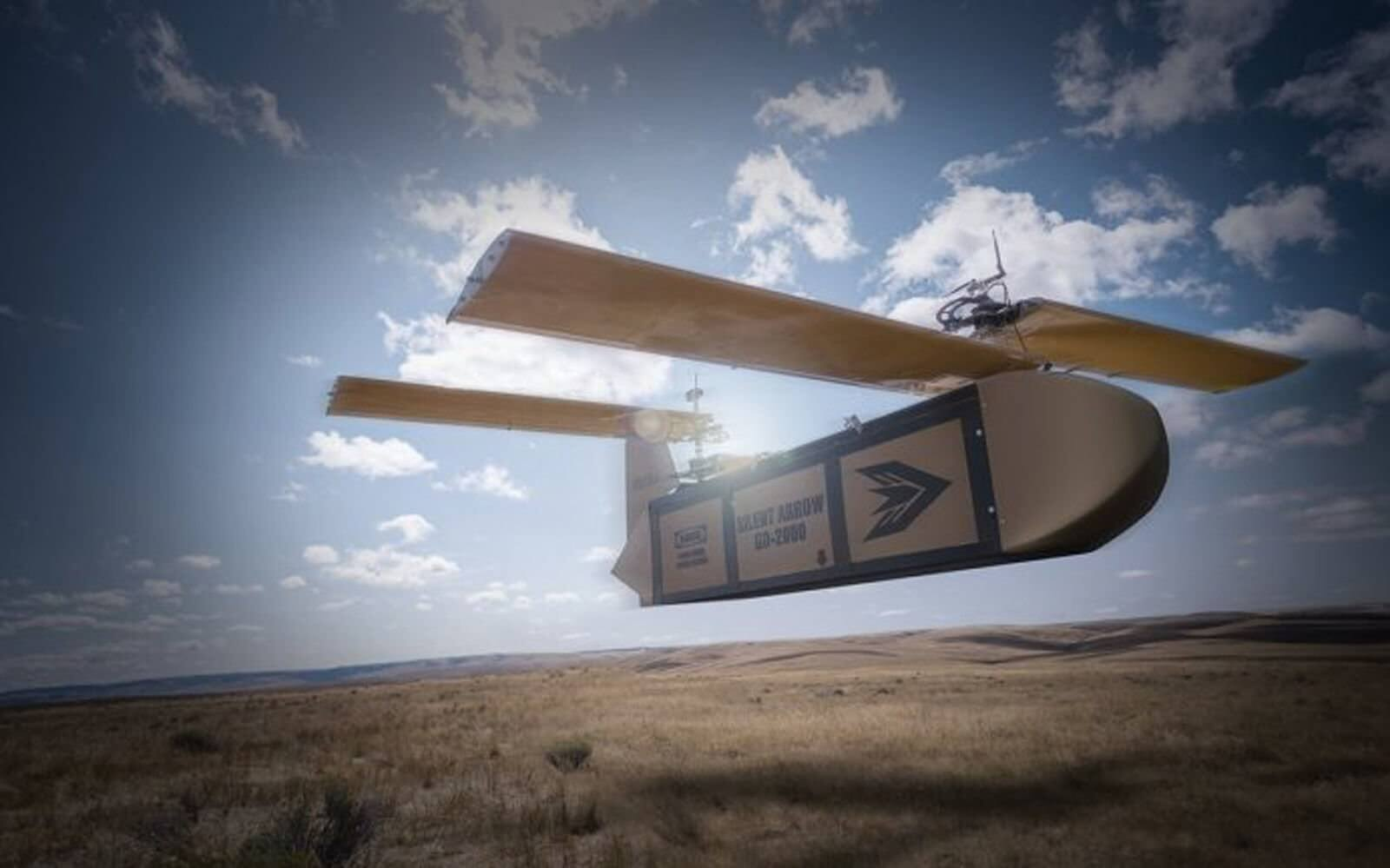 This one-ton glider delivery drone is designed for battlefield cargo drops