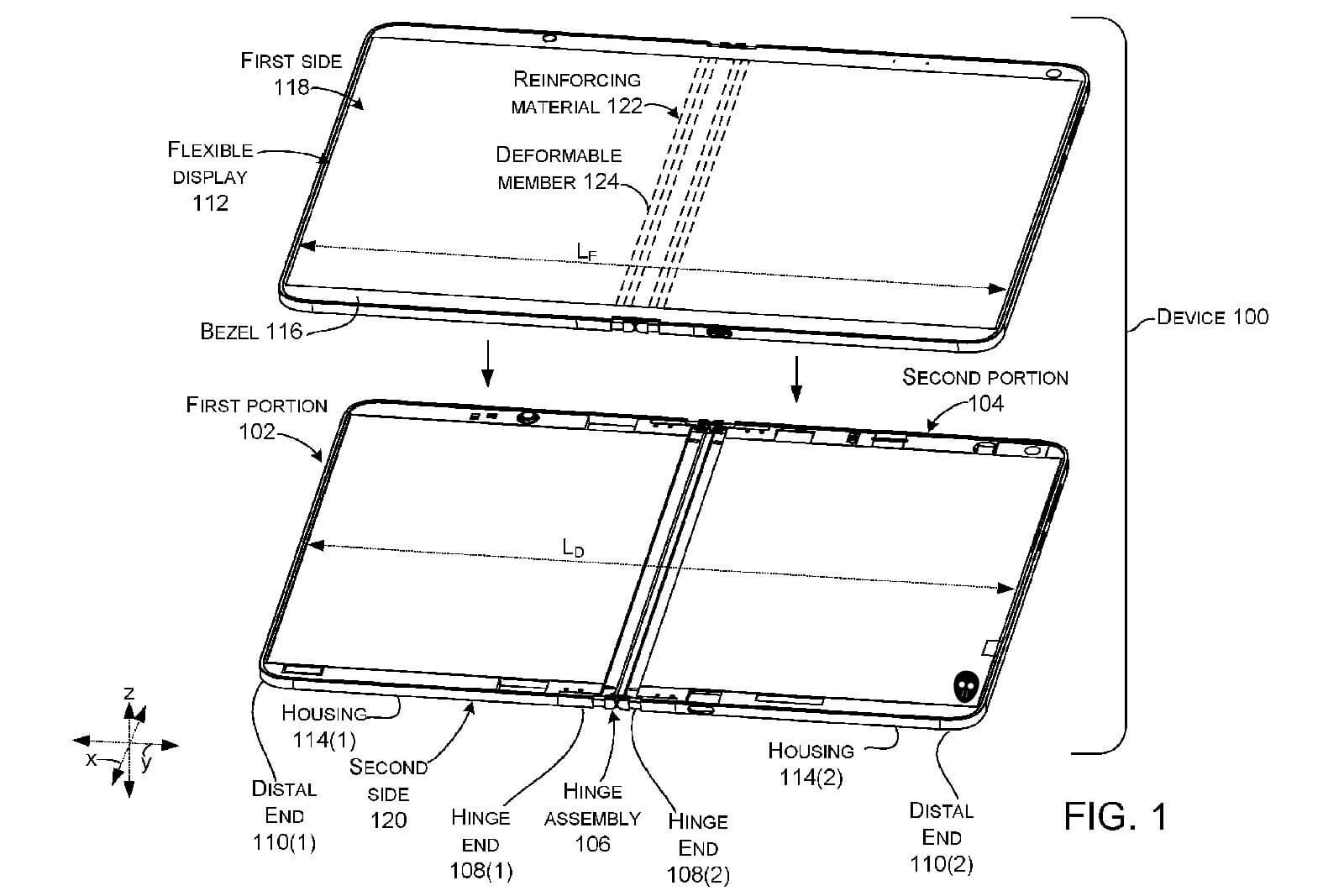 Microsoft patent describes a folding-screen device with a liquid-filled hinge