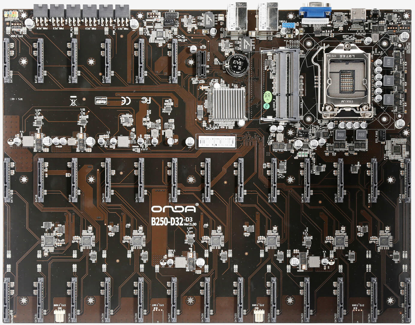 Storage Wars: this motherboard packs a staggering 32 SATA ports