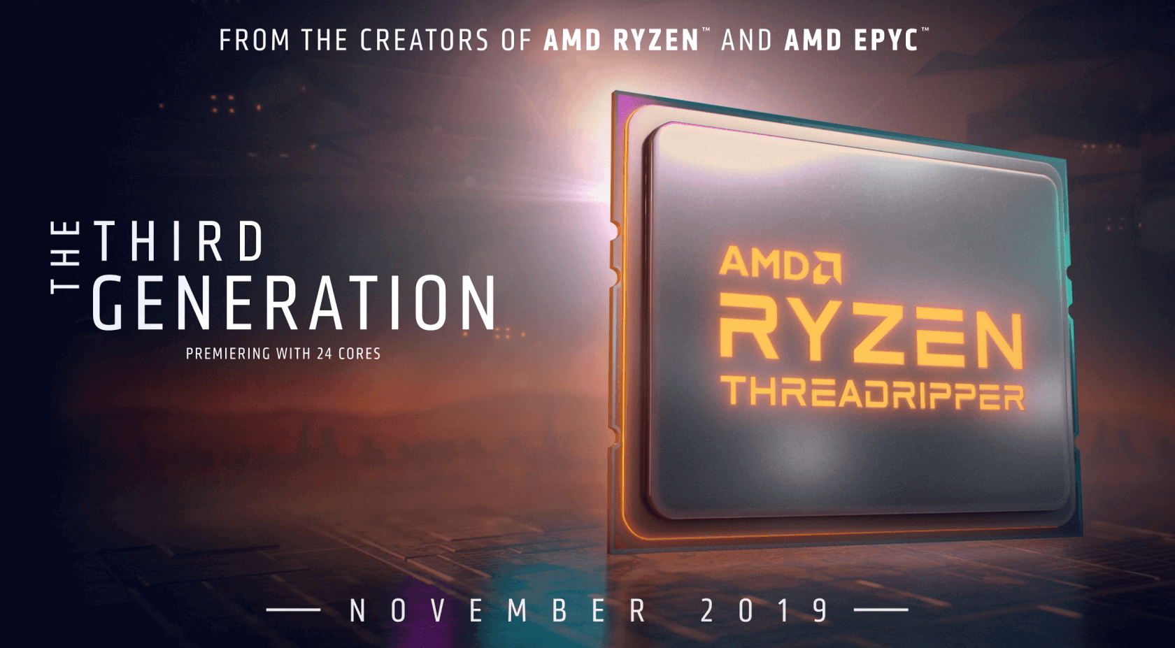 AMD announces 3rd Gen Ryzen Threadripper CPU, delays Ryzen 9 3950X