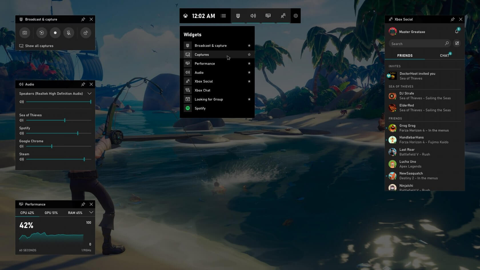 Windows 10 game bar gains a frame rate counter and achievement overlay