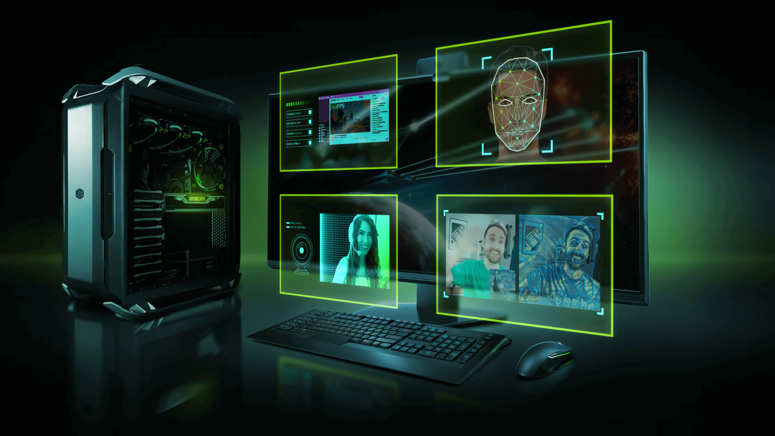 Nvidia announces an AI-driven green screen for streamers