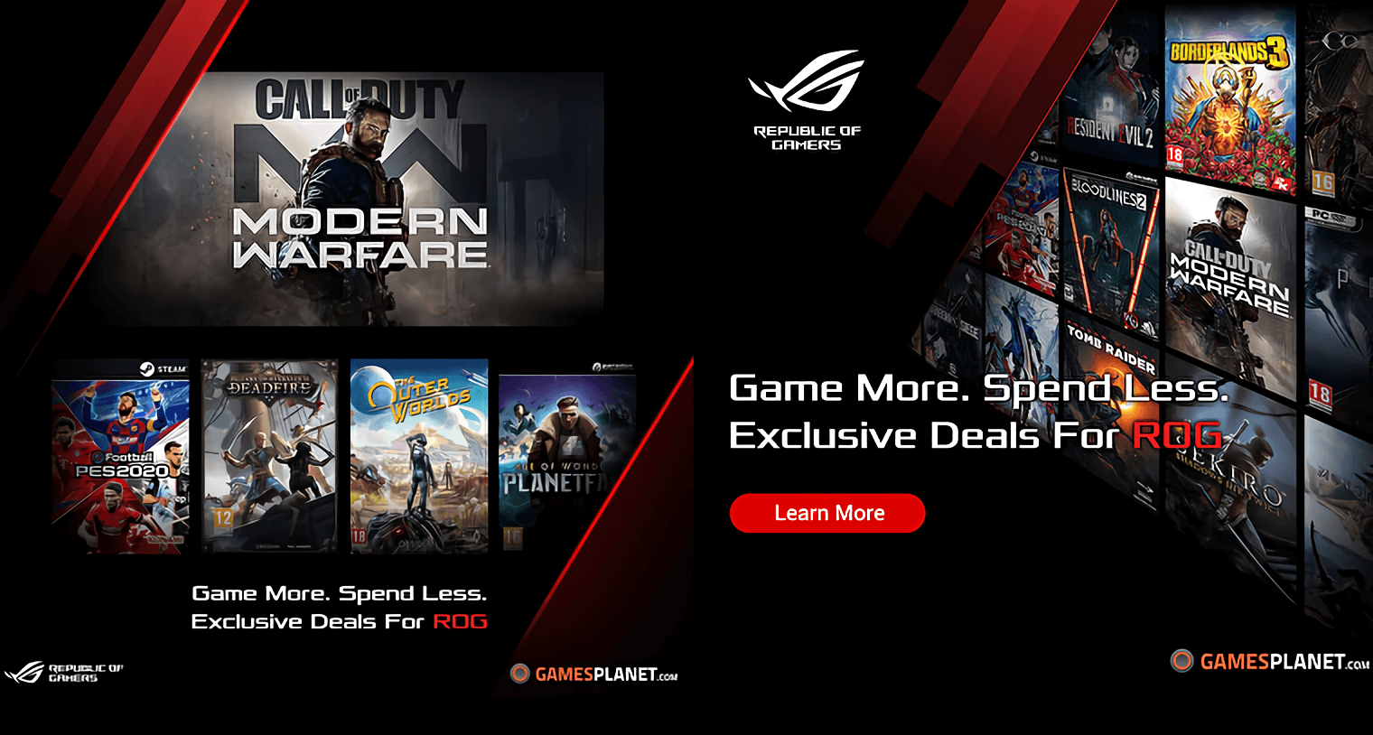 Asus and Gamesplanet partner up to offer games for bargain prices
