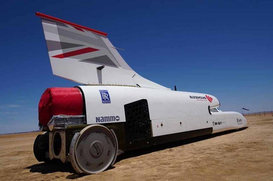 Bloodhound land speed record auto  goes past 500 miles per hour