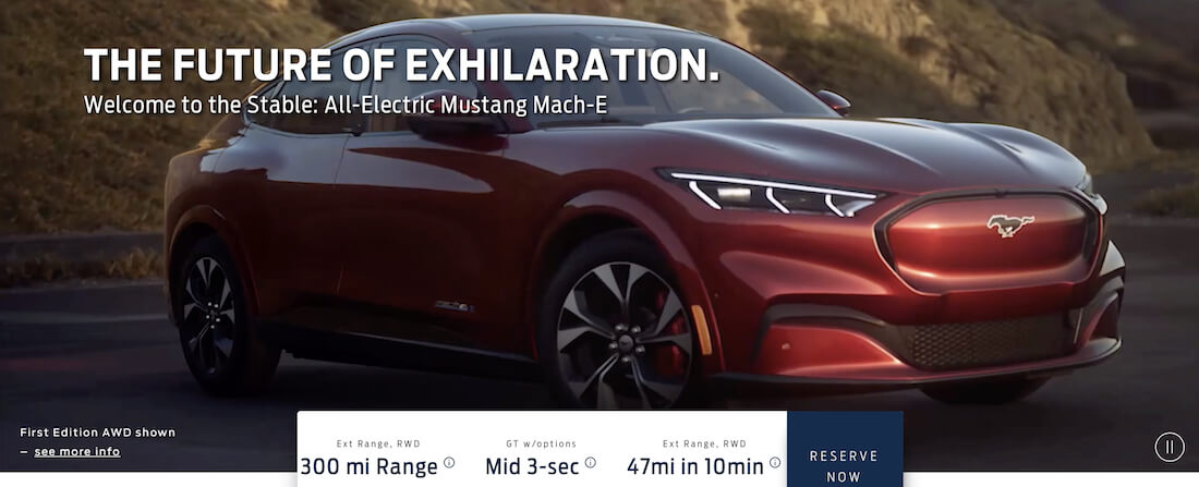 Ford's all-electric SUV is called the Mustang Mach-E, reservations begin this Sunday