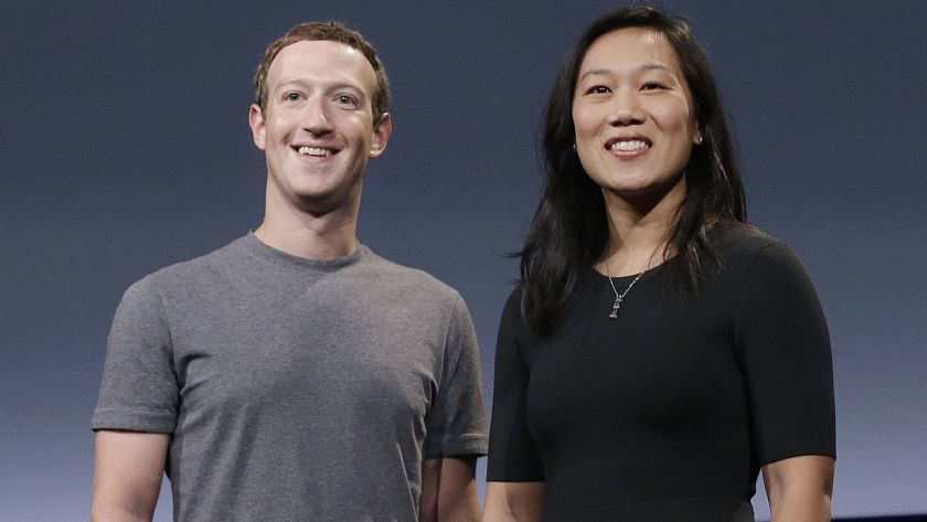 Image result for images of Mark Zuckerberg and his wife, Priscilla Chan