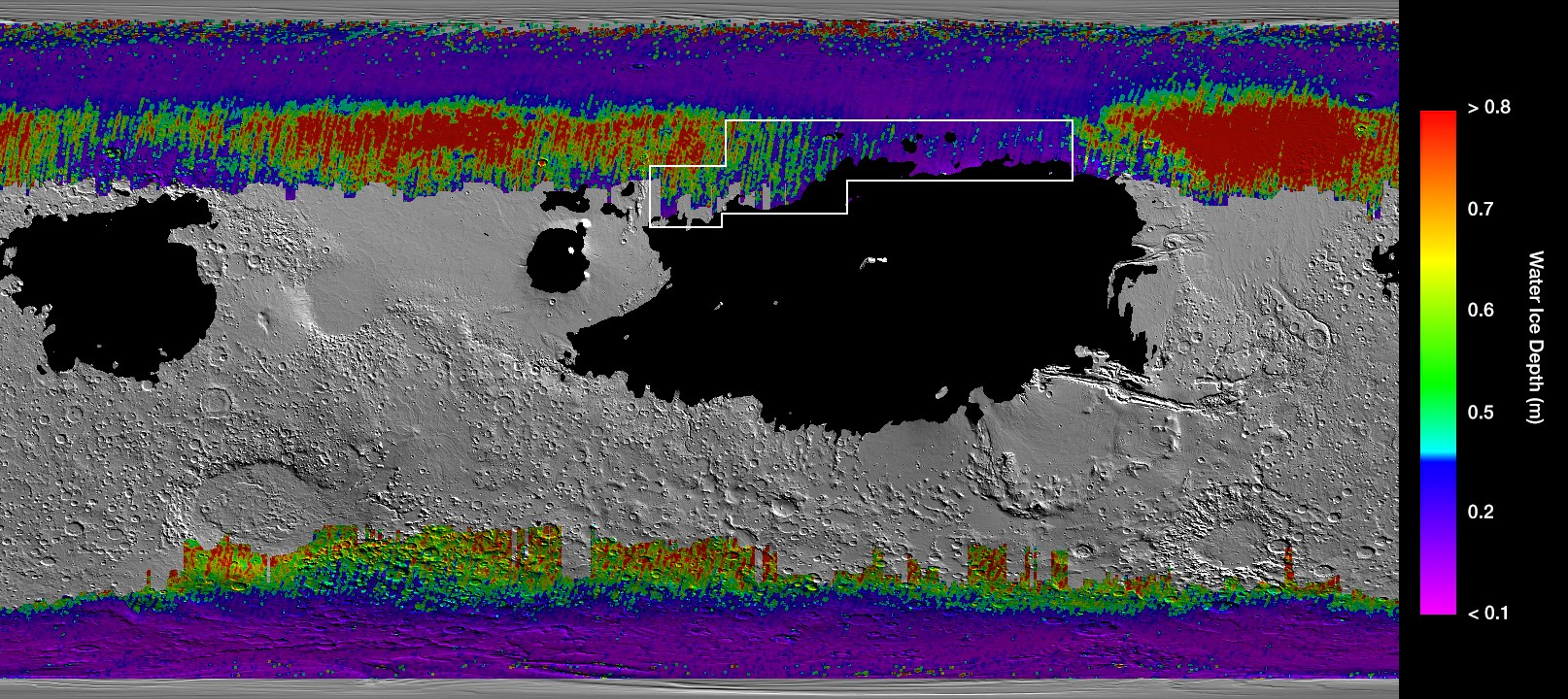Mars has buried treasure in the form of water ice