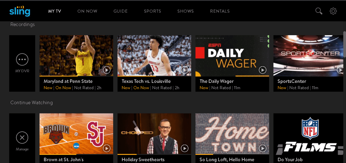 Sling TV's Cloud DVR can finally record ESPN channels