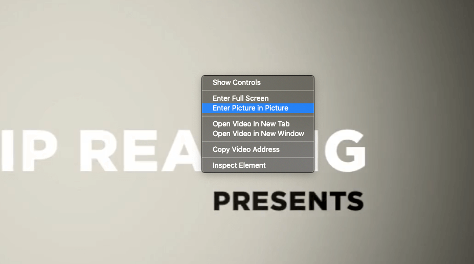 Safari for macOS has picture-in-picture mode for videos