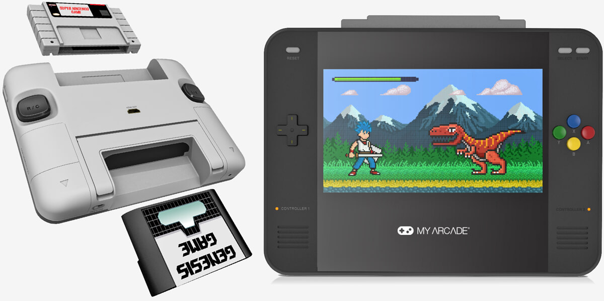 The Super Retro Champ can play all your old SNES and Sega Genesis cartridges