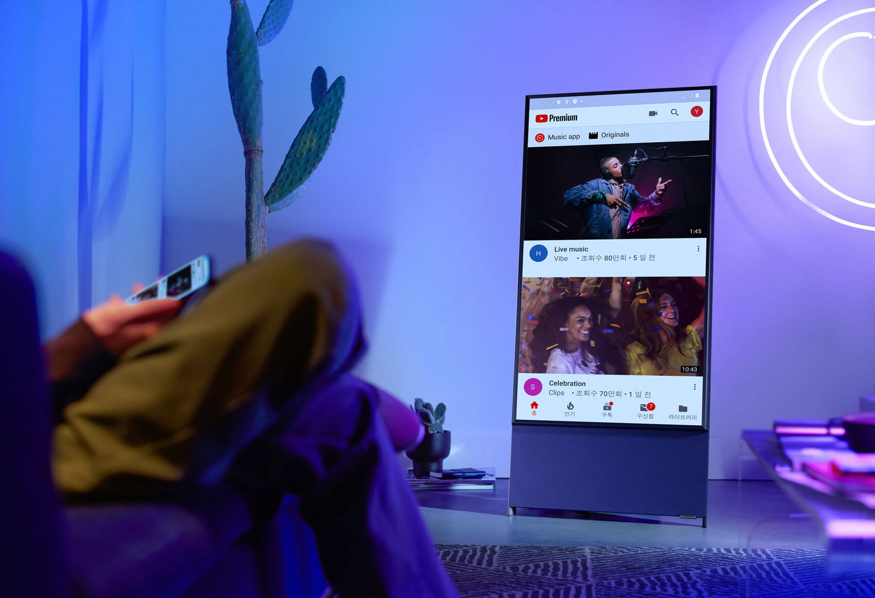 Samsung launches $1,999 rotating TV in US for smartphone-loving millennials