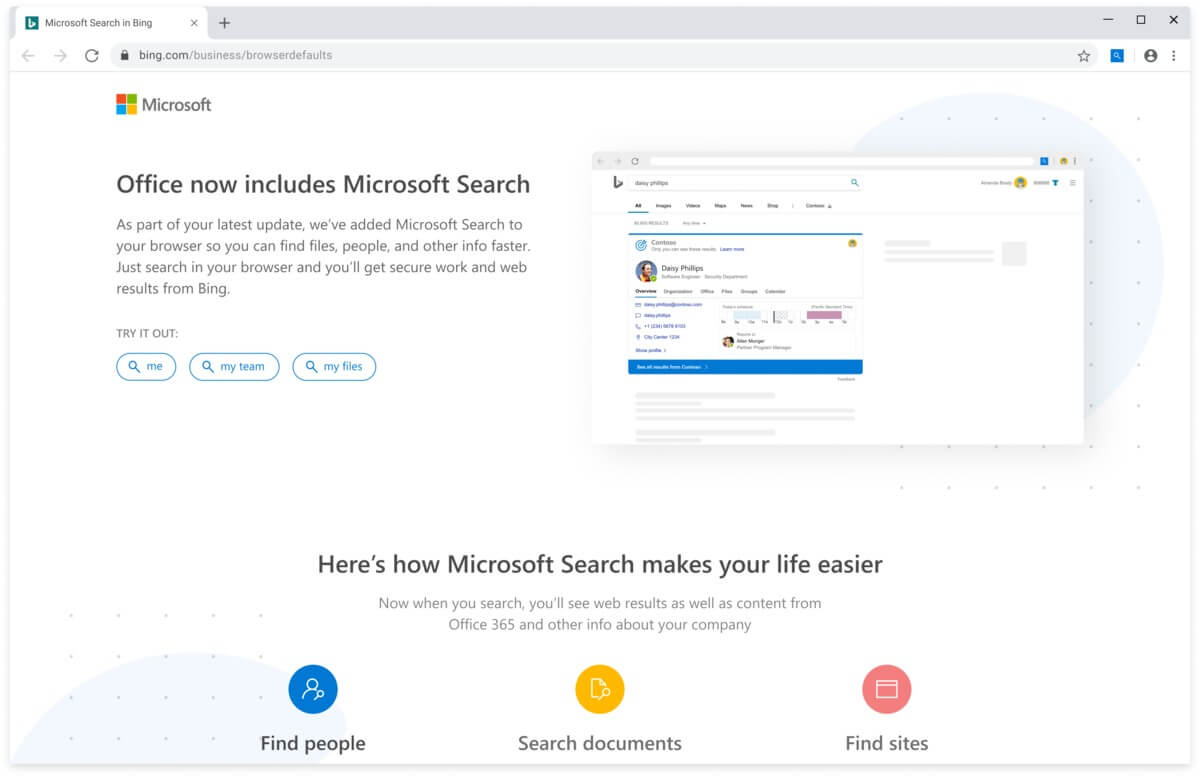 Installing or updating Office 365 will quietly set Chrome default search to Bing