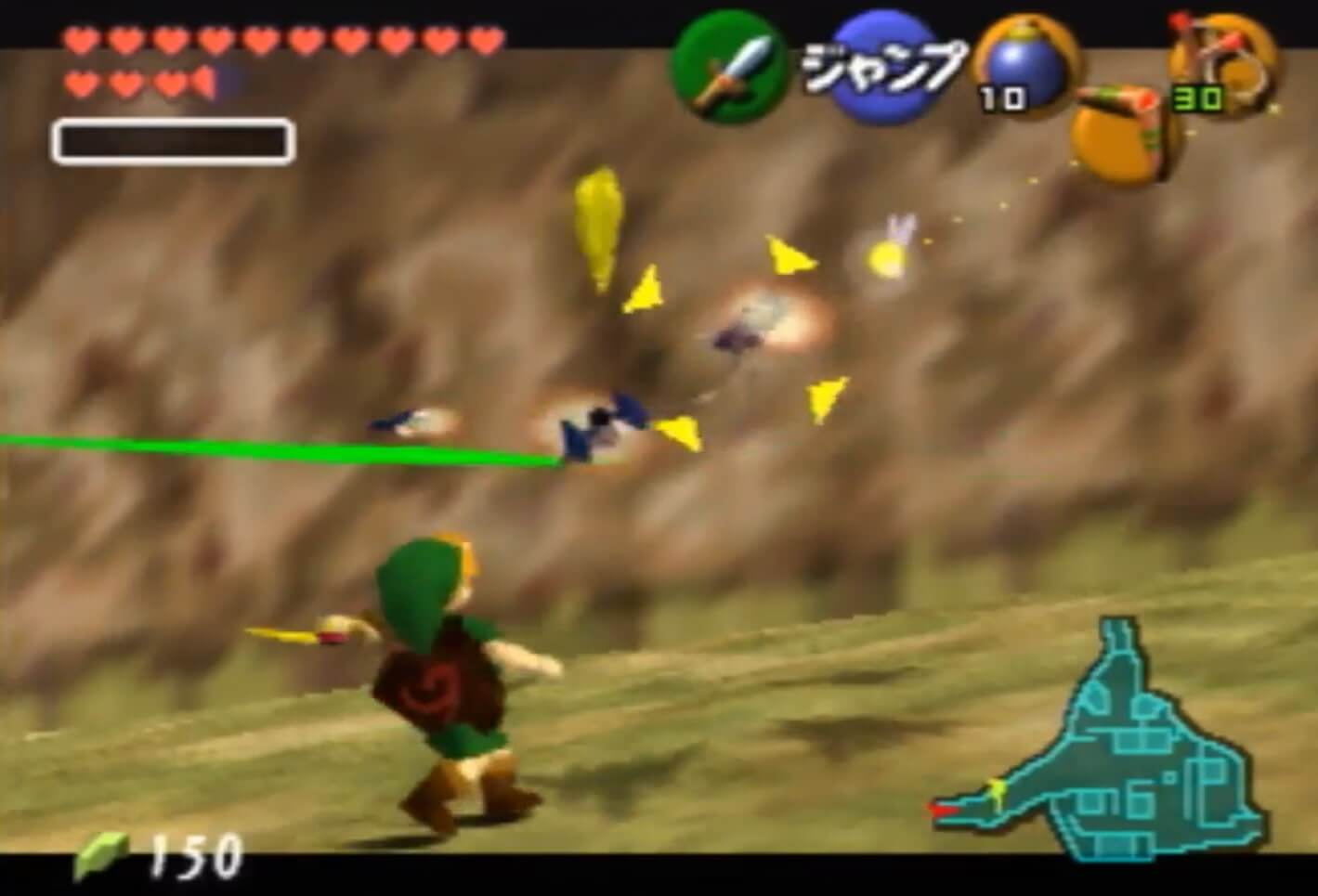 Star Fox 64 ships can be spawned into Zelda: Ocarina of Time without mods