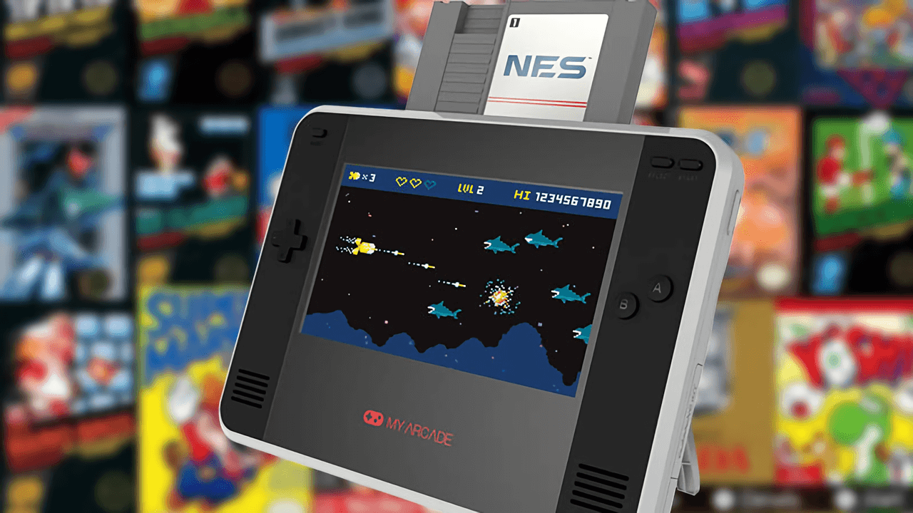 The Retro Champ lets you play NES and Famicom cartridges on the go