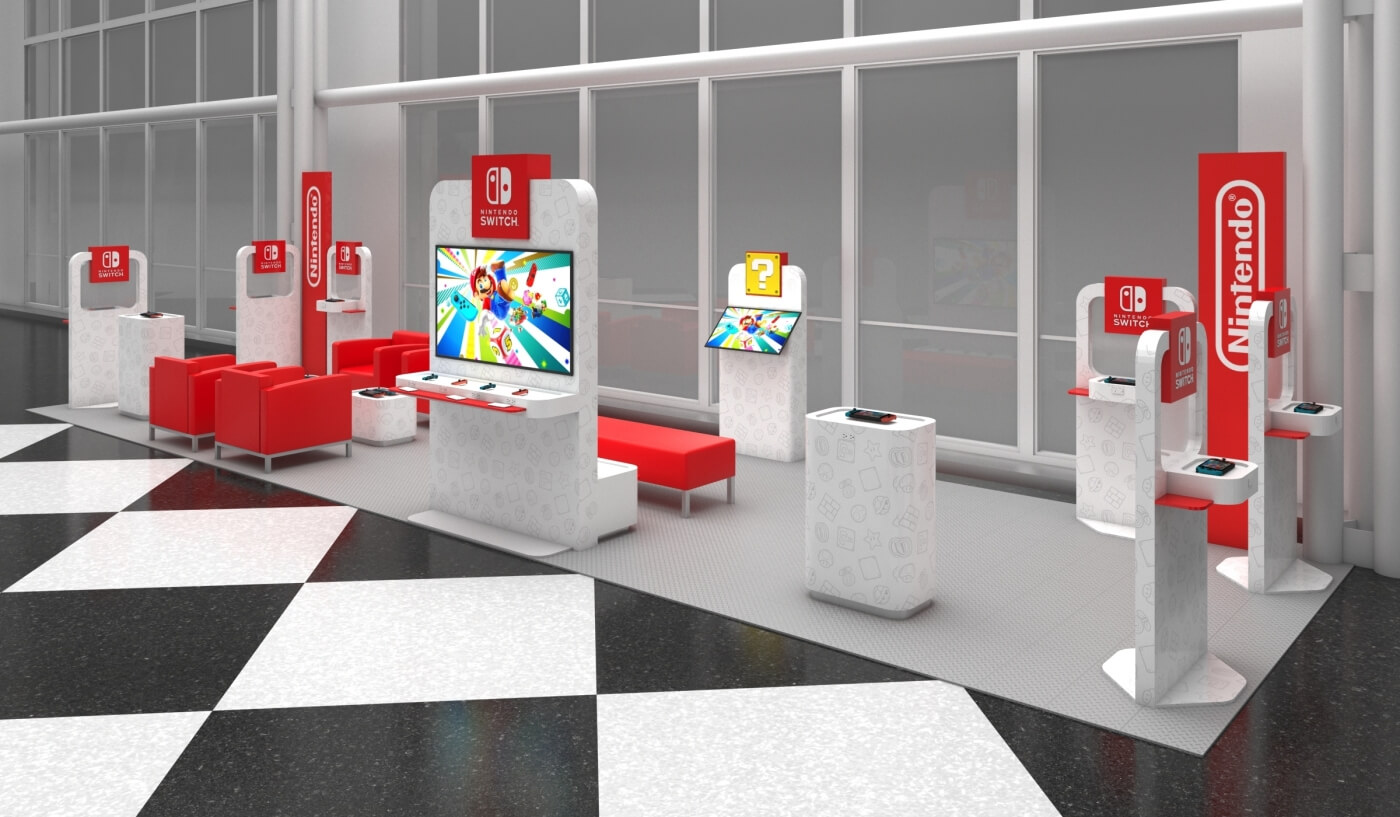 Nintendo is launching pop-up Switch demo lounges at select US airports