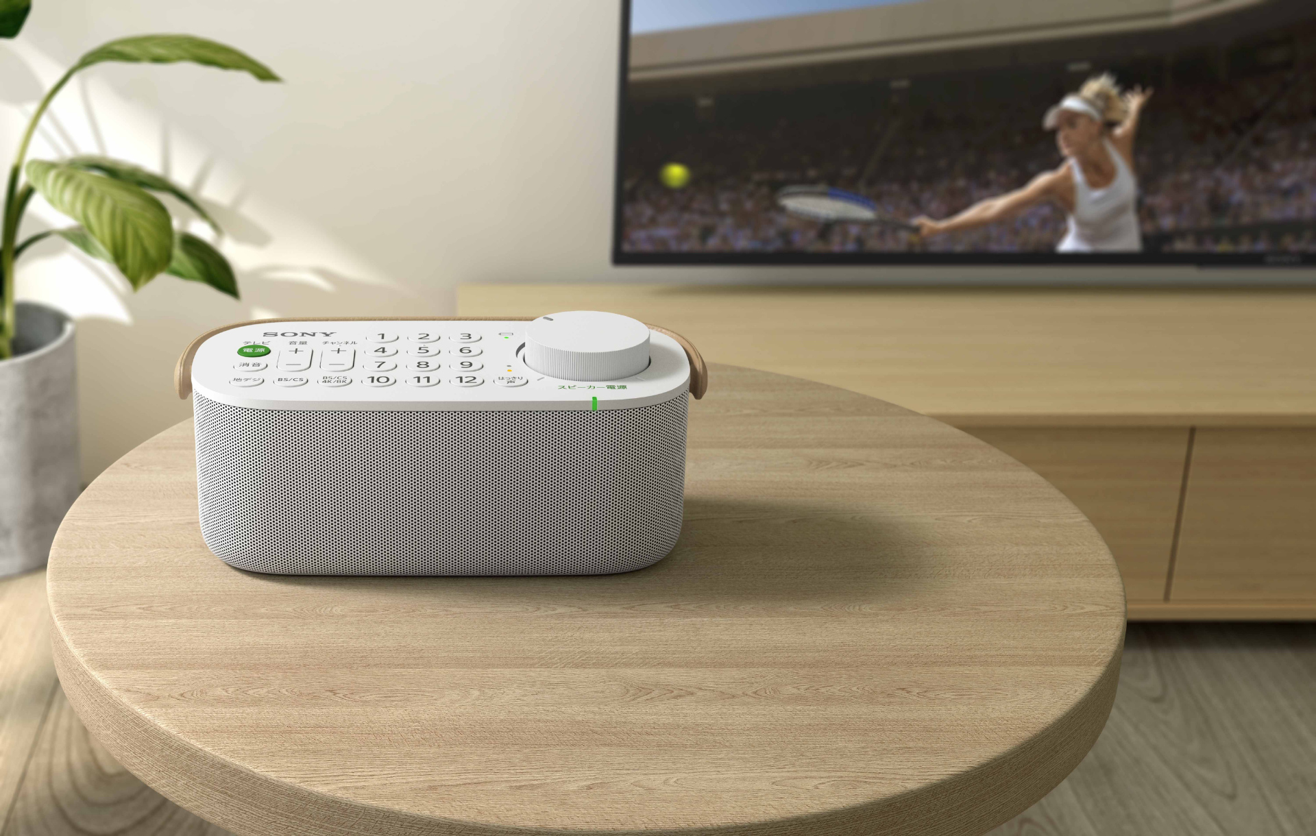 Sony's latest portable speaker comes with a built-in remote control