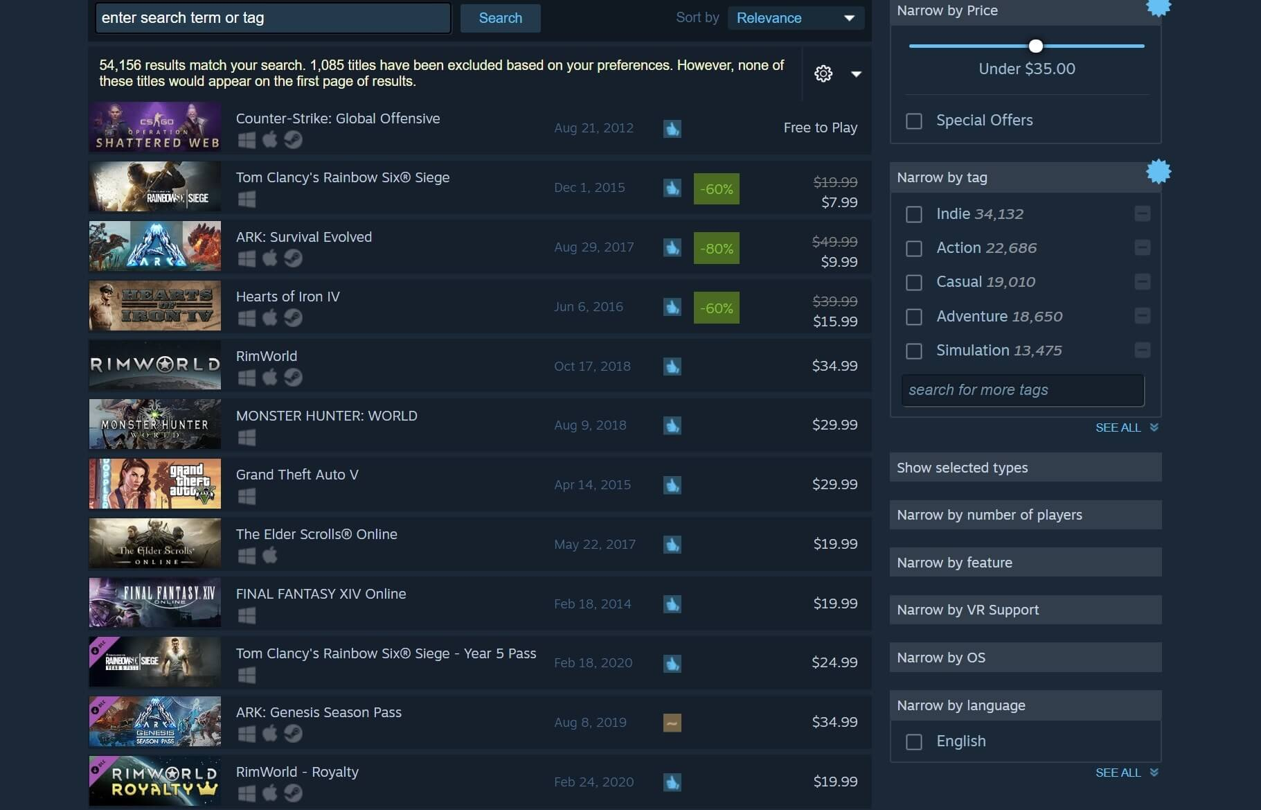 Steam improves its Search function with new filters - TechSpot