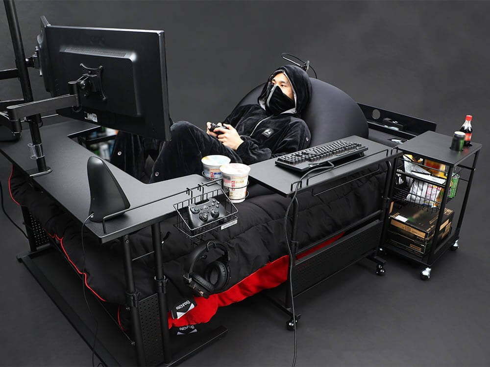 Forget gaming chairs, check out this gaming bed