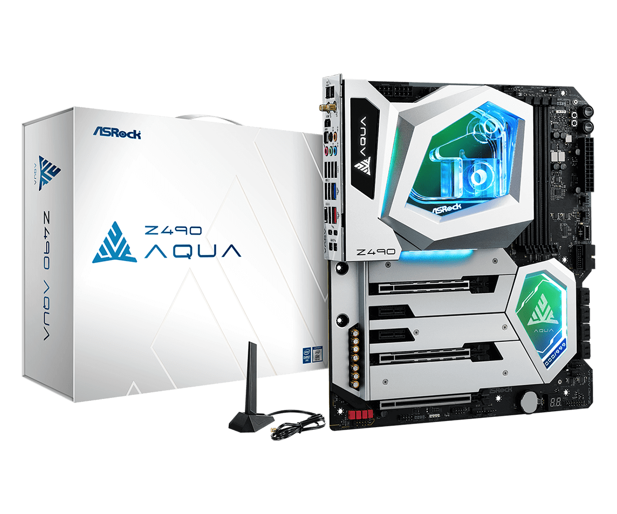 Check out ASRock's $1,100 Z490 Aqua mobo: water cooling, OLED display, and limited to 999 units